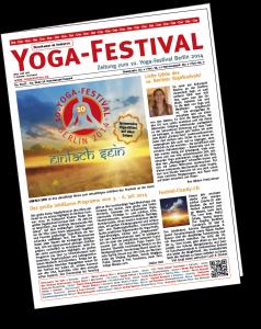 Deckblatt der Yogafestival-Zeitung 2014