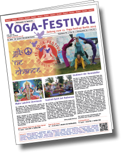 Deckblatt der Yogafestival-Zeitung 2015
